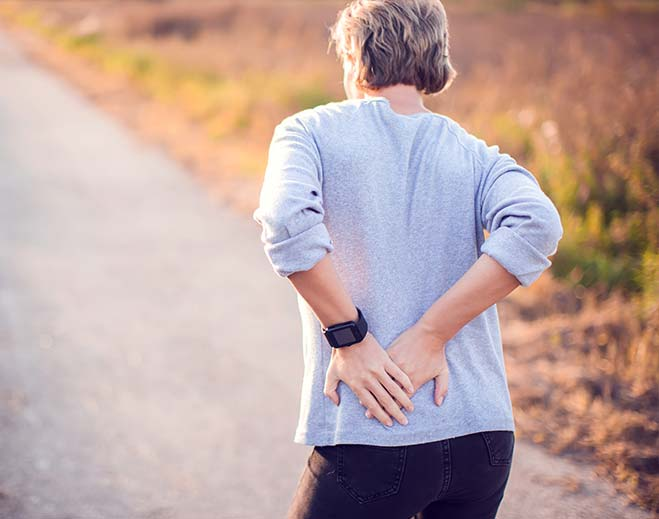 man with lower back pain